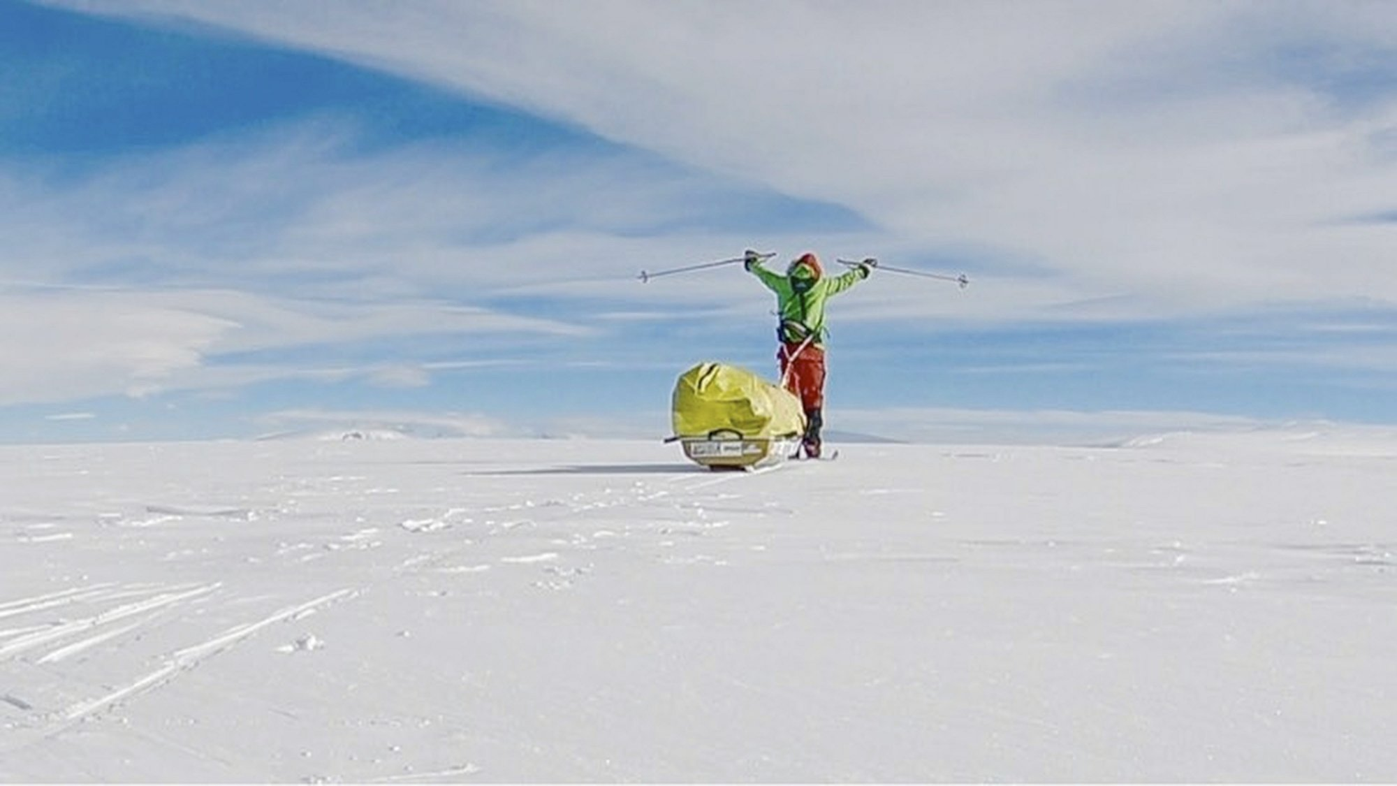 American man first to solo across Antarctica unaided