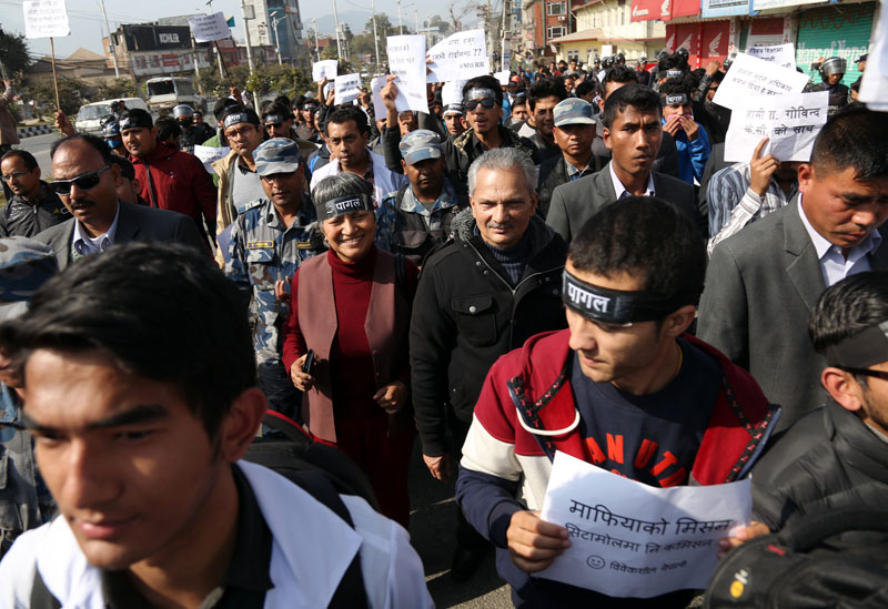 Hundreds of thousand take out street to express solidarity for Govinda KC