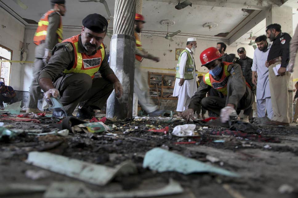 Blast at Pakistani religious school kills seven, wounds more than 80