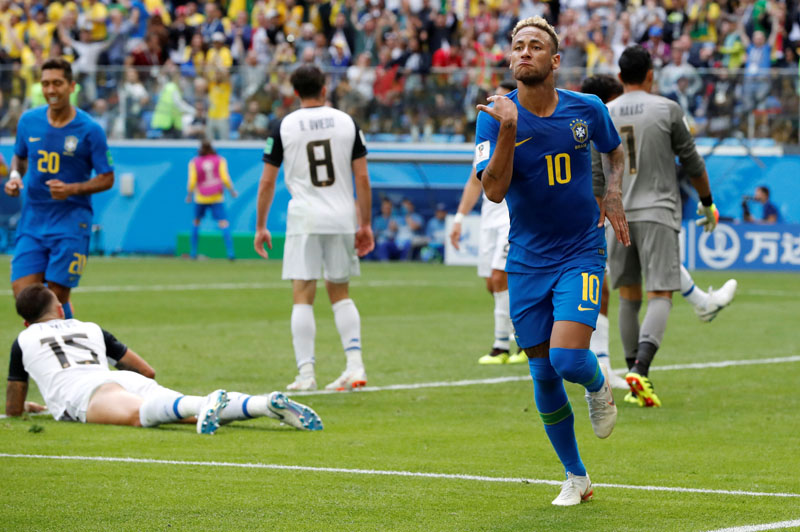 Brazil beat Costa Rica 2-0 in tense encounter