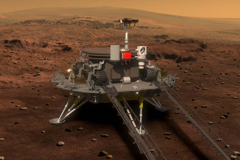 Concept portrayal of China's Mars rover and lander released on August 23, 2016 by lunar probe and space project centre of Chinese State Administration of Science, Technology and Industry for National Defence. Photo: China Daily via Reuters