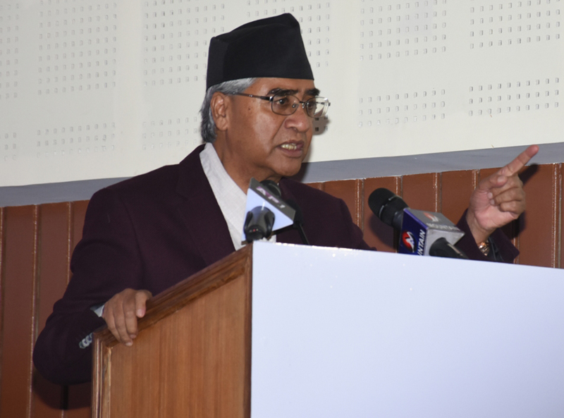 Main Opposition Nepali Congress President Demands Fair Investigation Over the alleged irregularity in the procurement deal to procure medical equipment From China
