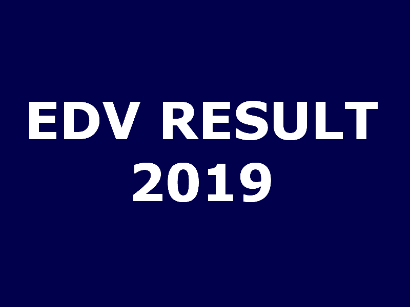 EDV-2019 result published