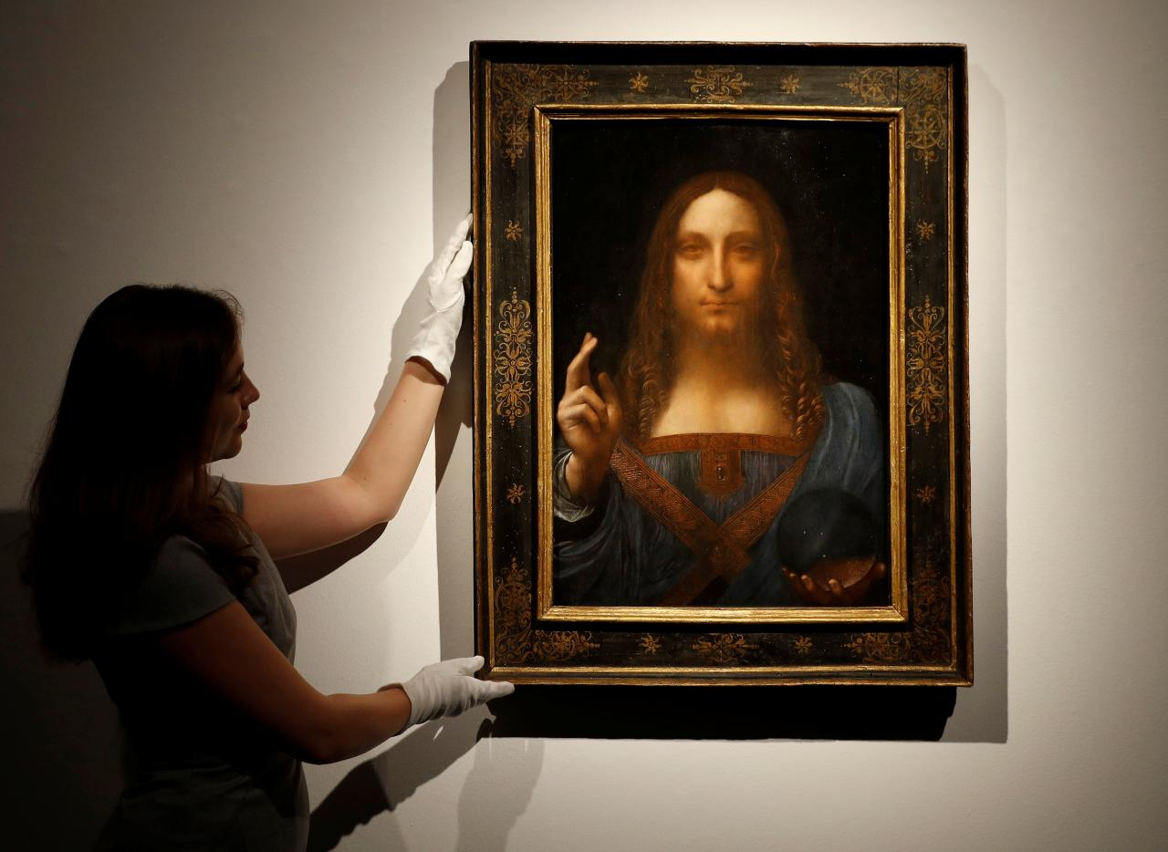 Da Vinci portrait of Christ sells for record $450.3 million in New York