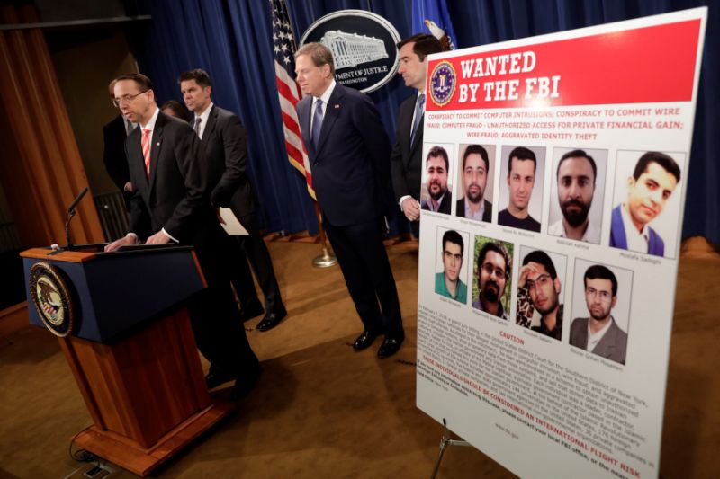 U.S. charges Iranians for global cyber attacks on behalf of Tehran