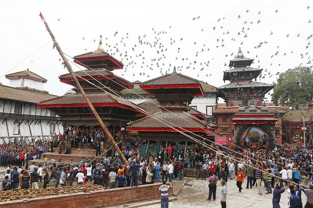 Indra Jatra formally begins