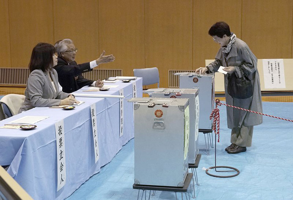Japan votes for lower house; Abe's party seen headed for win