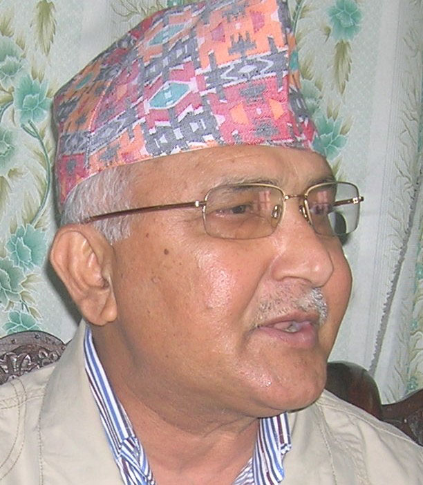 CPN UML Chair Oli leave for Tibet