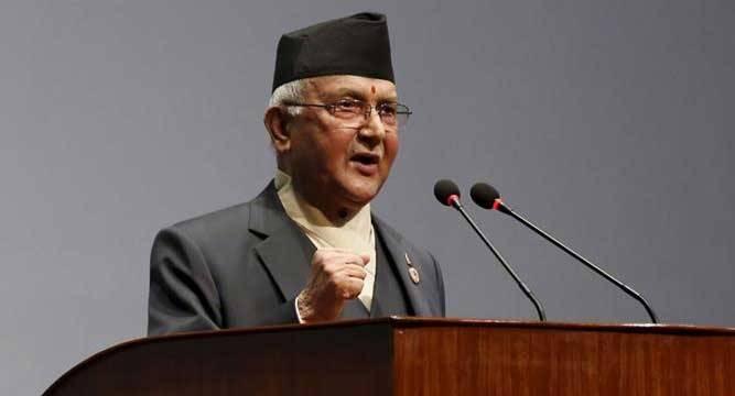 CPN (UML) Chairman KP Sharma Oli
