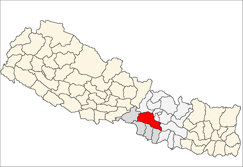 An earthquake measuring shakes in and around Makawanpur district