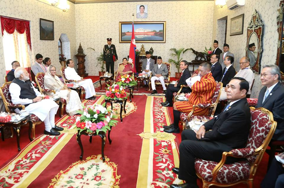President Bhandari meets visiting Heads of State/ Government of the