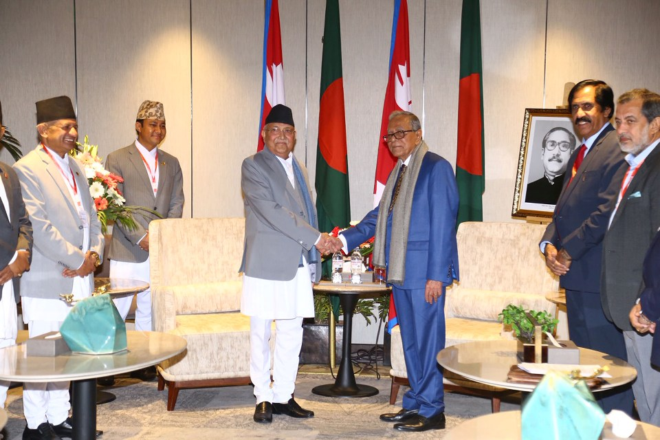 Visiting Bangladeshi President Holds Meetings With Nepalese Leaders