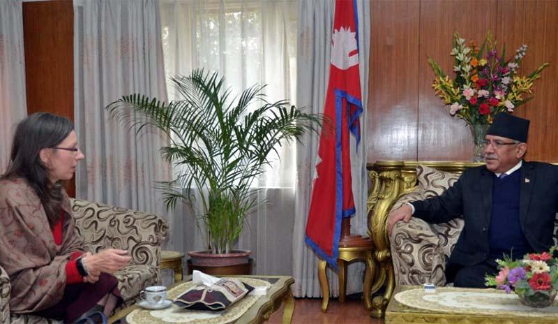 US ambassador Teplitz called on Prime Minister Dahal