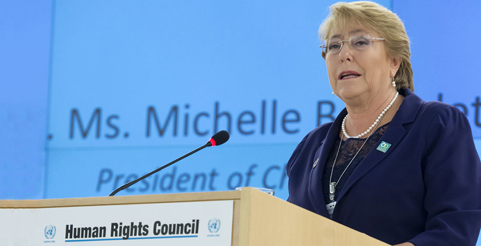 OHCHR chief Bachelet says 55,000 linked to IS in Syria, Iraq should be tried or freed