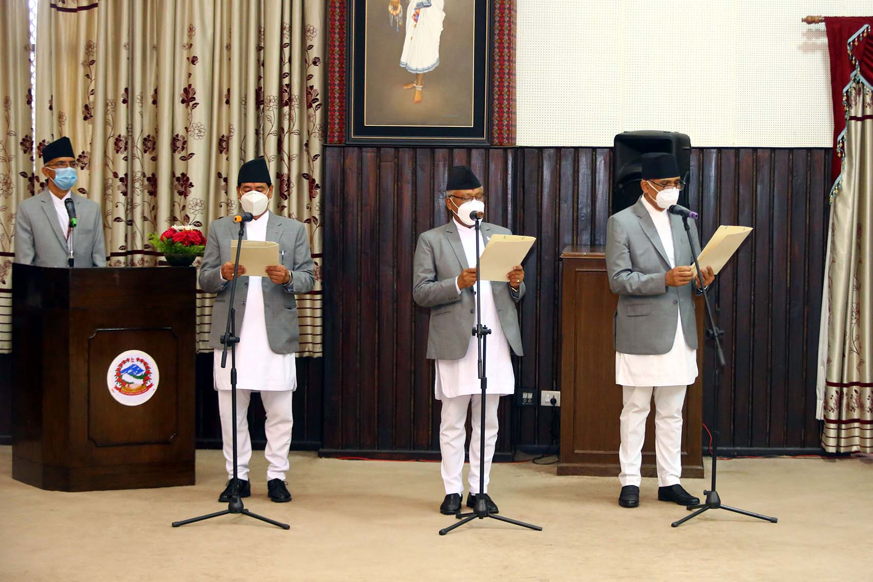 Newly appointed Ministers administered oath of office and secrecy