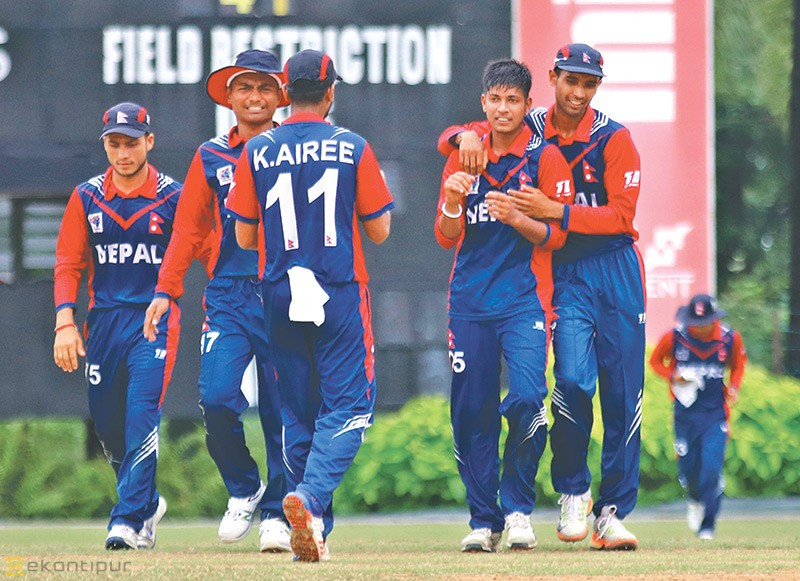 Nepal secures fifth victory in the World T20 Asia Qualifiers