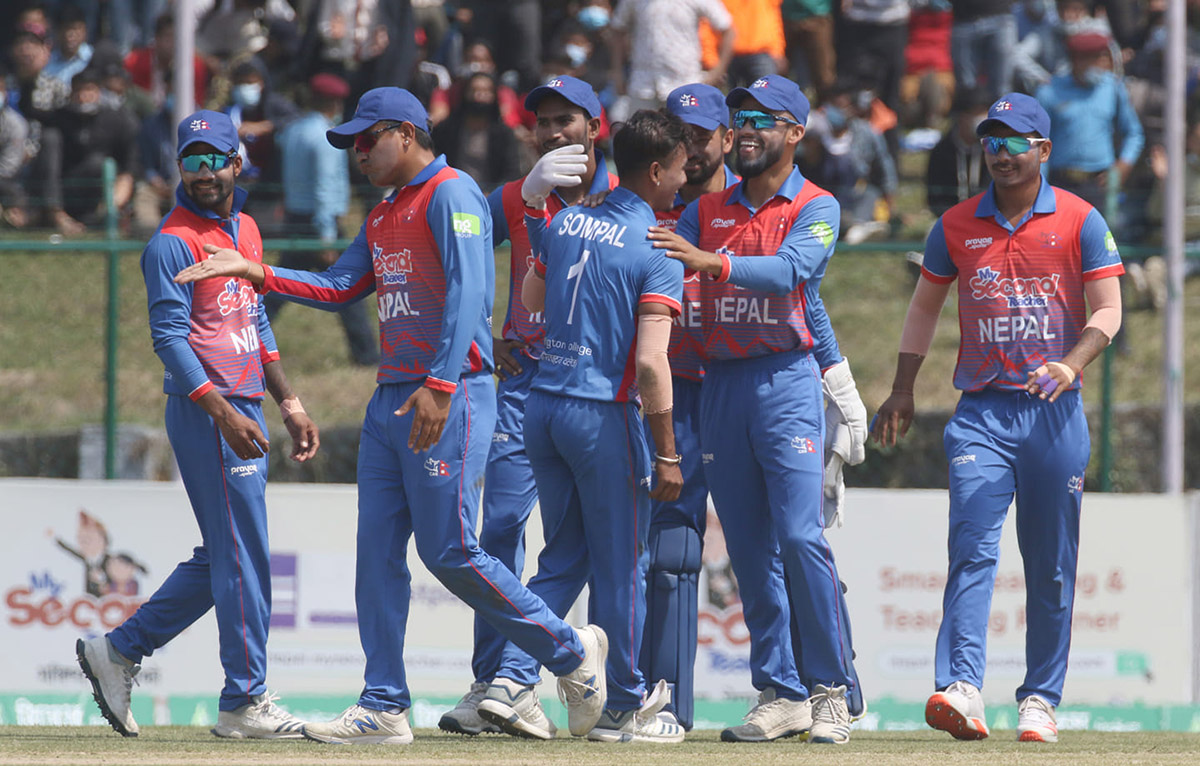 Nepali cricket team registers victory against Malaysia by 9 wickets