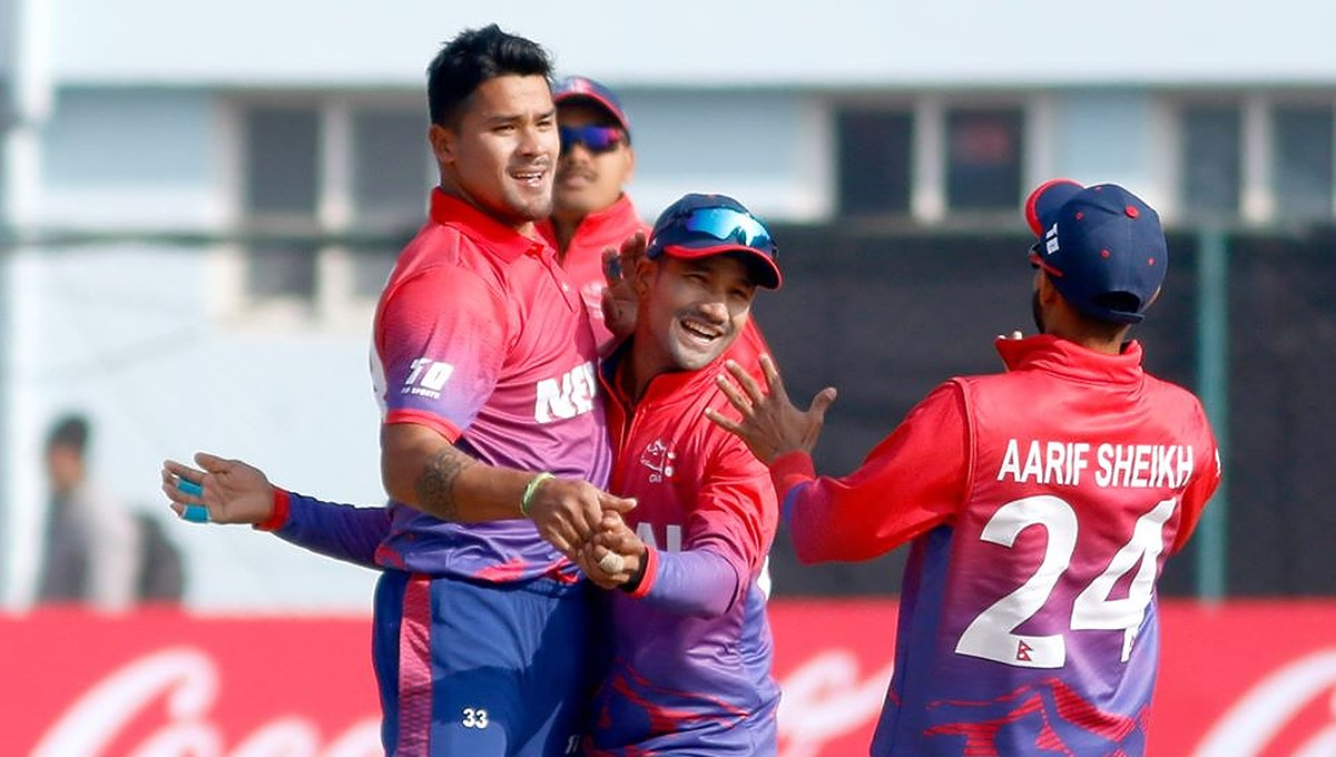 Nepal Defeats USA In The ICC World Cup Cricket League