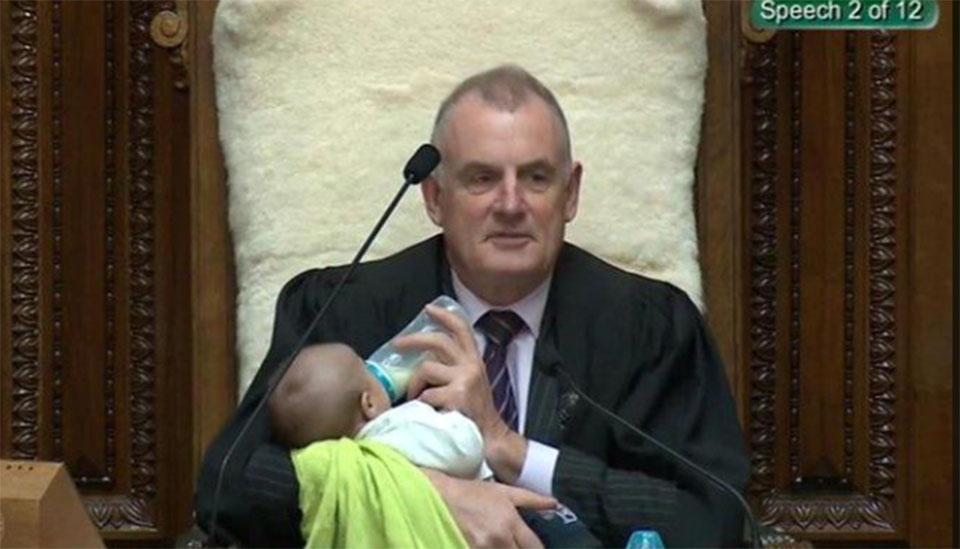 Bringing up baby: New Zealand speaker makes parliament more parent-friendly