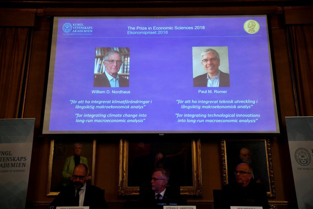 Nordhaus, Romer win Nobel Economics Prize