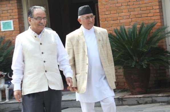 Primer Oli invites Dahal to hold decisive talks over the issue of party unification