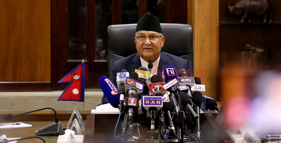 Prime Minister Oli Criticized Main Opposition Nepali Congress, Intelligentsia and Media