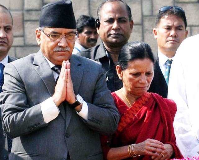 NCP Co-chairperson Dahal leaves for US for treatment of his ailing wife Sita