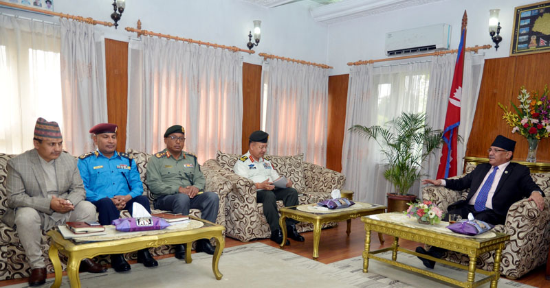 Prime Minister Dahal directs chief of four security agencies for arrangements for effective security management for the local level elections
