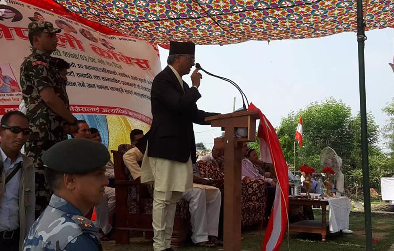 Nepali Congress President Deuba insists on party victory for constitution implementation