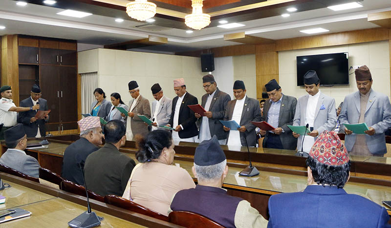 Prime Minister Deuba inducts 15 State Ministers in his cabinet
