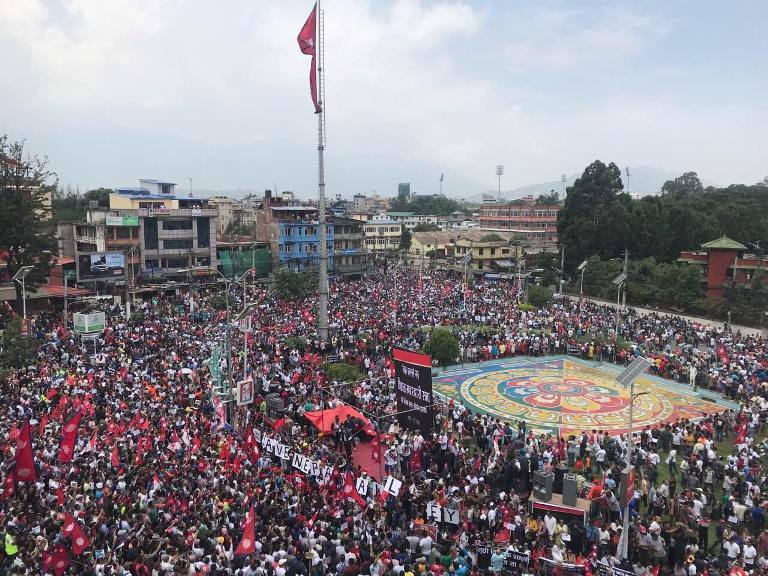 Ethnic Newar Communities In Kathmandu Valley Stage Massive Protest Demanding Scrap Of Controversial Guthi Bill