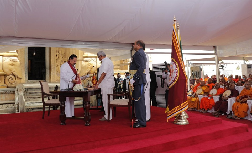 Rajapaksa sworn in as PM in Sri Lanka, cementing family rule