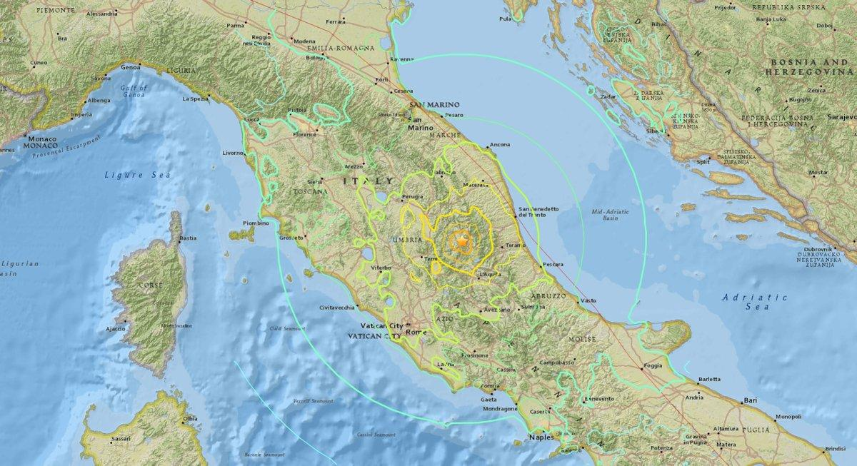 Magnitude 6.1 earthquake rattles Rome, central Italy