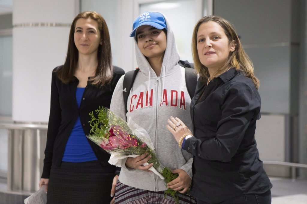 Woman who fled Saudi Arabia reaches her new home in Canada