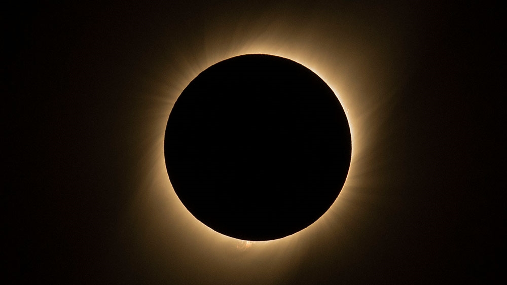 Solar eclipse today, begins at 8:43am
