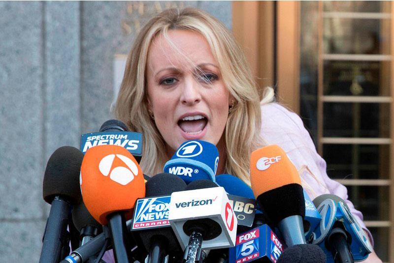 Porn star Stormy Daniels sues President Trump for defamation