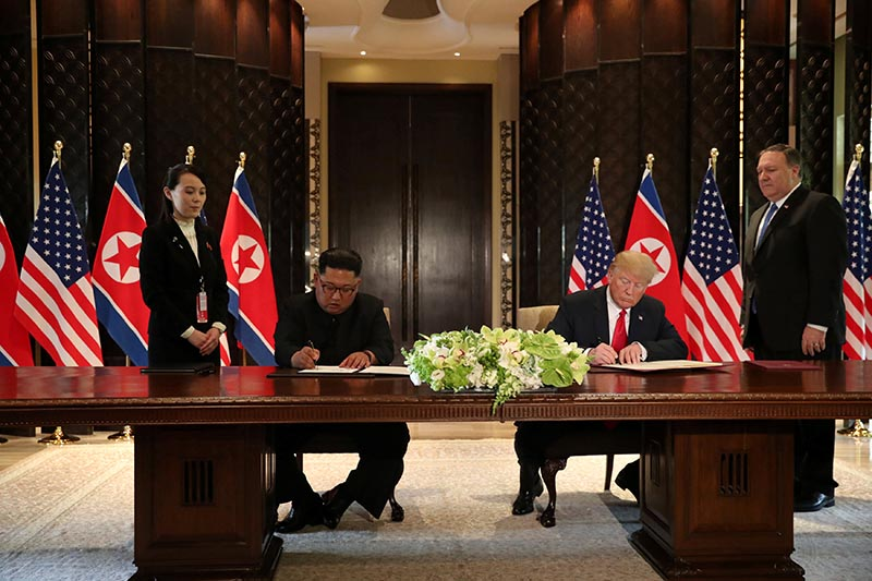 Trump, Kim sign agreement on denuclearisation, security of North Korea