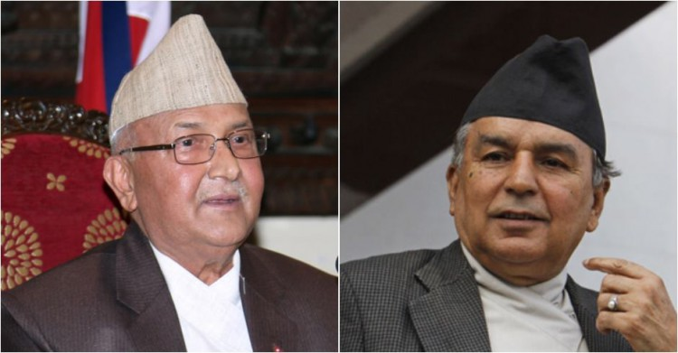 Nepali Congress leader Poudel- UML chairman Oli discuss on contemporary political issues