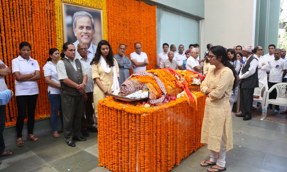 Funeral rites for Devkota have been performed at Pashupati Aryaghat