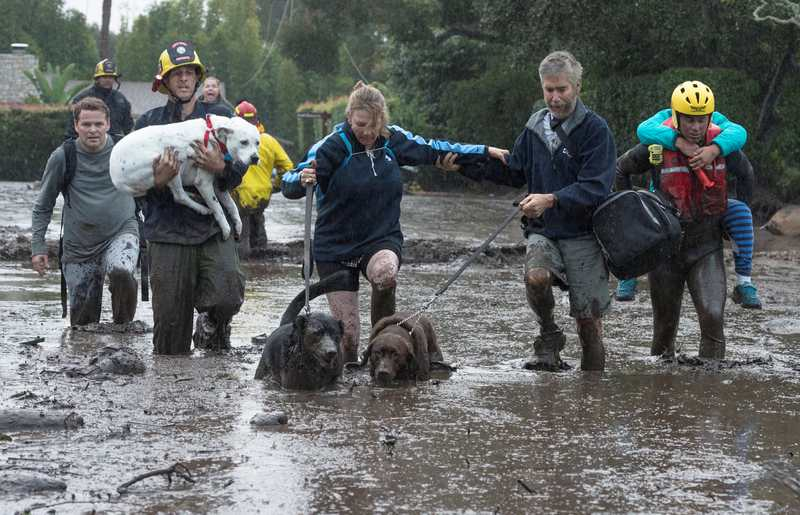 At least 13 dead in Southern California flooding, mudslides